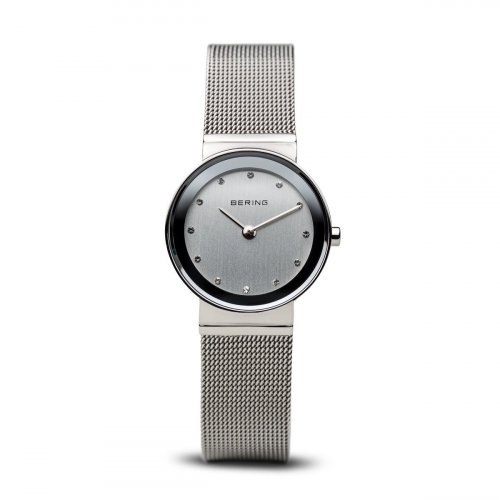 Bering - Ladies Classic Collection, Swarovski Crystal Set, Stainless Steel Ultra Slim Watch
