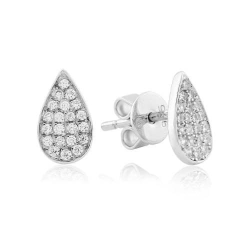 Waterford - C/Z Set, Silver Pear Earrings