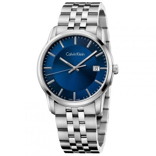 Calvin Klein - Men's Infinity, Stainless Steel Dark Blue Watch