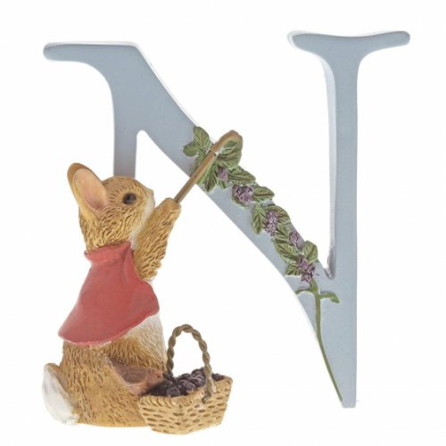 """Enesco - """"N"""" Cotton-Tail, Pottery Letter"""