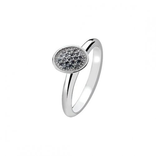 Virtue - Sterling Silver White Crystal Cone Ring