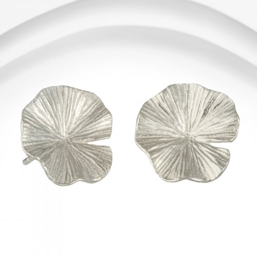 Banyan - Sterling Silver Lily Pad Stud Earrings