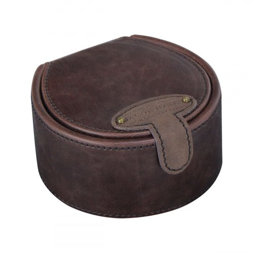 Jacob Jones - Brown and Tan Stud Box with Burnt Orange Interior