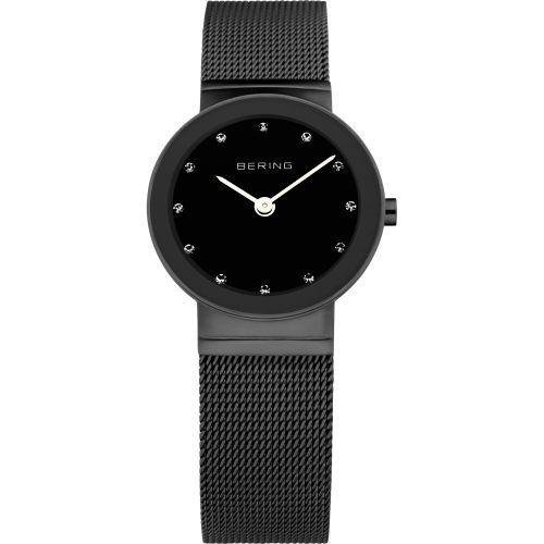 Bering - Classic, Swarovski Crystal Set, Milanese Black Watch