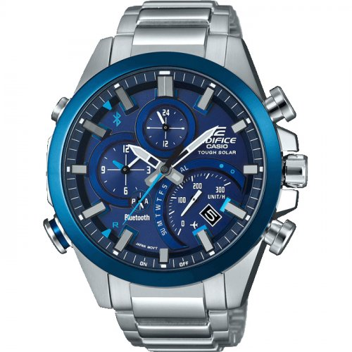 Casio - Edifice, Stainless Steel With Bluetooth Solar Powered Watch