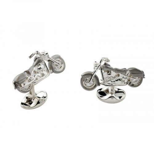 Deakin and Francis - Sterling Silver Motorbike Cufflinks