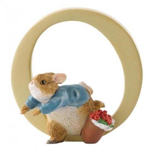 Enesco - Peter Rabbit, Alphabet, Initial O Figurine