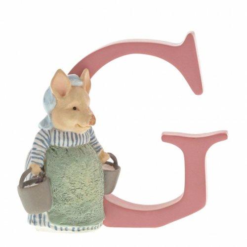 Enesco - Peter Rabbit, Ceramic/Pottery/China Letter G