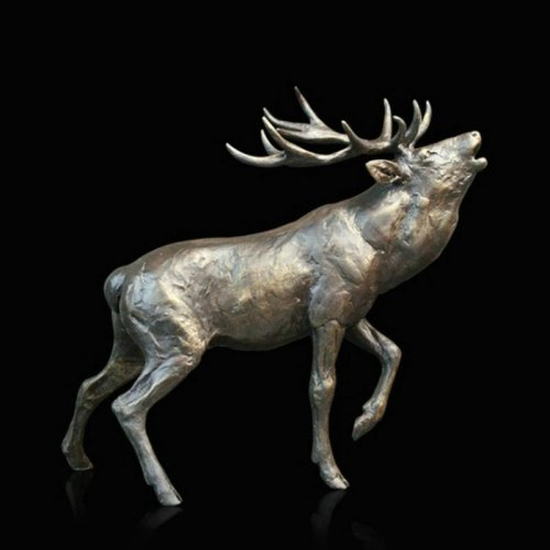 Richard Cooper - Stag Roaring, Bronze Limited Edition Figurine