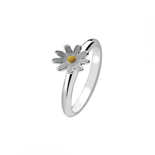 Virtue - Sterling Silver Daisy Plain Band Ring