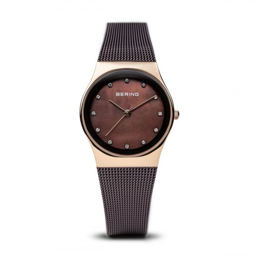 Bering - Swarovski Crystal Set, Stainless Steel - Rose Gold Plated - Ladies Rose Gold and Mother of pearl face Watch - 12927-262