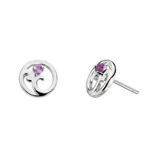 Kit Heath - Norah, Amethyst Set, Sterling Silver Stud Earrings