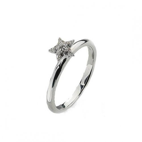 Virtue - Pave Cubic Zirconia Set, Sterling Silver Star Ring
