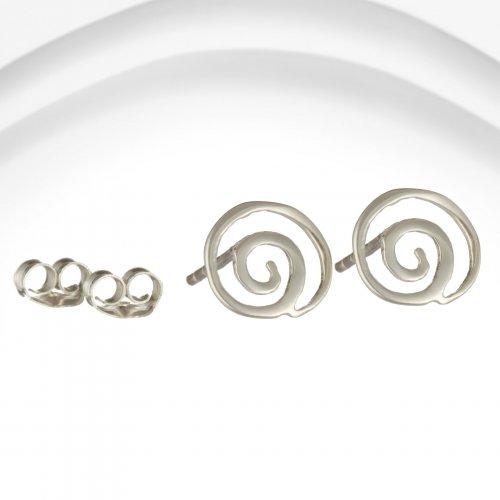 Banyan - Silver Open Sprial Stud Earrings