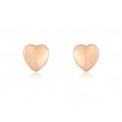 Mark Milton - 9ct Rose Gold Heart Stud Earring