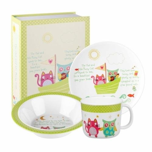 Churchill - Owl and Pussy Cat Melamine 3 Piece Set