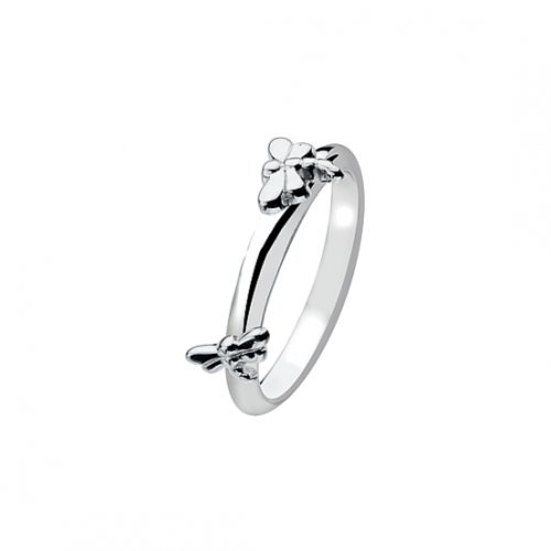 Virtue - Dancing Dragonflies, Sterling Silver Ring, Size Q