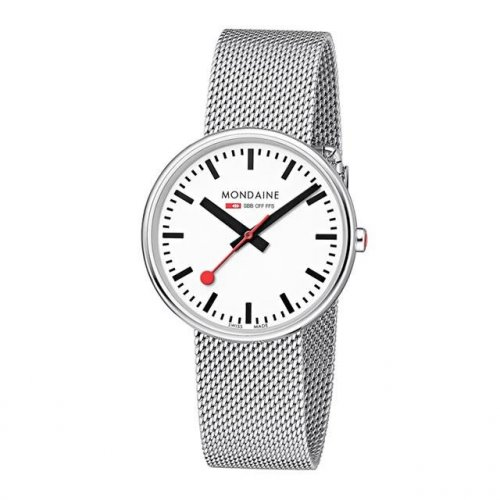 Mondaine - Mini Giant, Stainless Steel Bracelet Watch, Size 18mm