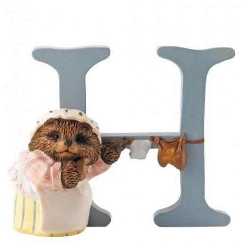 Enesco - Mrs Tiggy Winkle, Alphabet, Initial H Figurine