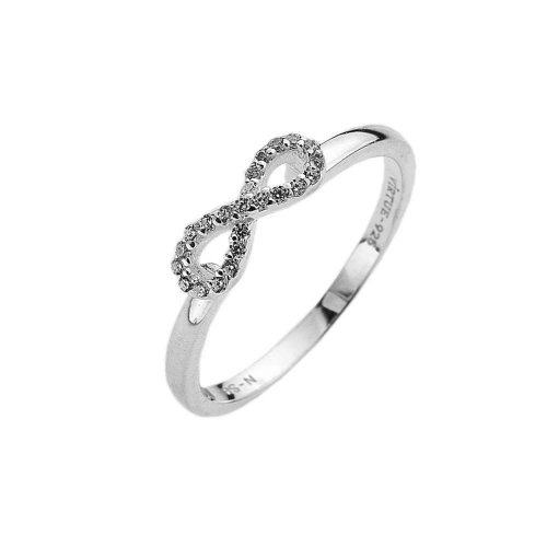 Virtue - Cubic Zirconia Set, Sterling Silver Infinity Ring
