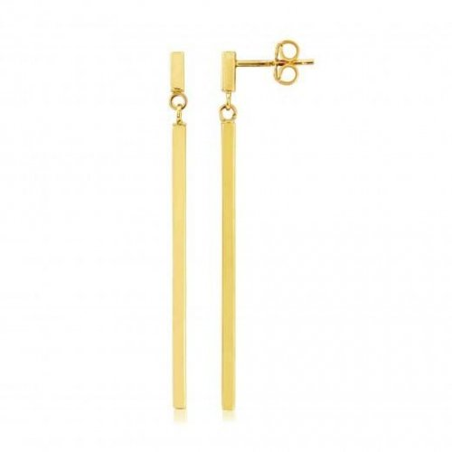 Mark Milton - 9ct. Yellow Gold Bar Drop Earrings