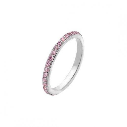 Virtue - Pink Cubic Zirconia Set, Sterling Silver Fine Ring