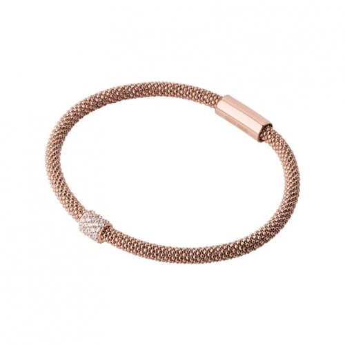 Links of London - Star Dust, Cubic Zirconia Pave Set, Rose Gold Plated Bead Bracelet