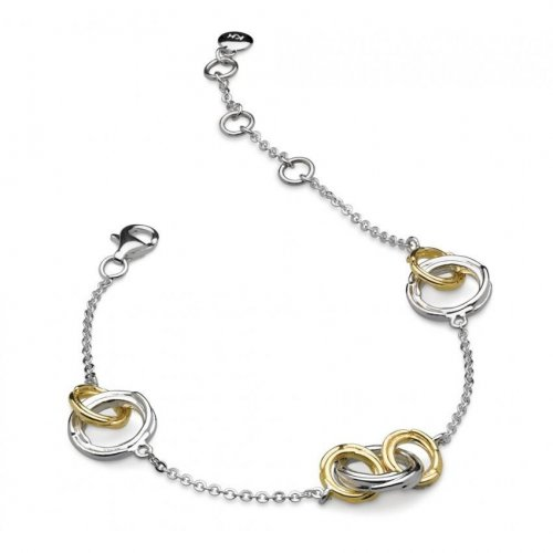 Kit Heath - Infinity Coco Link, Sterling Silver and Gold Plate Bracelet