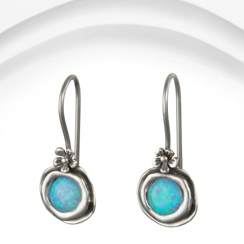 Banyan - Opalite Set, Sterling Silver Flower Drop Earring