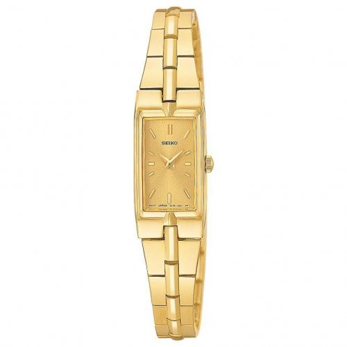 Seiko - Ladies Solar, Yellow Gold Plated Watch