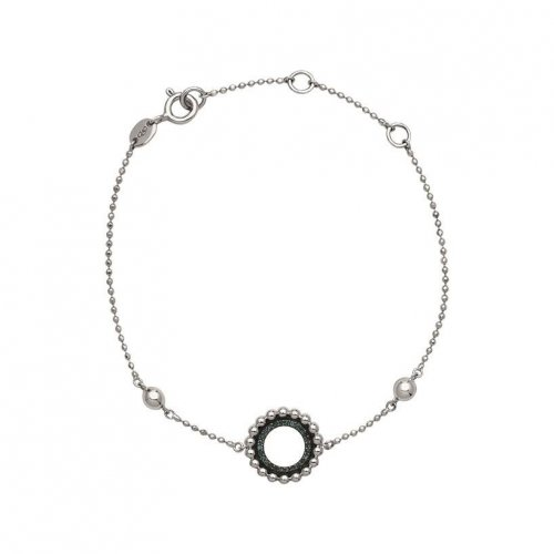 Links of London - Effervescence, Blue Diamond Set, Sterling Silver Bracelet