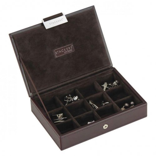 Stackers - Chocolate Brown Cufflink Box