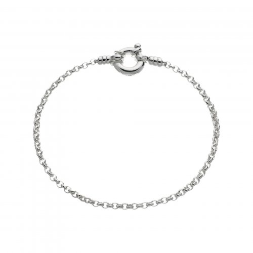 Links of London - Belcher, Sterling Silver Mini Bracelet, Size 18cm
