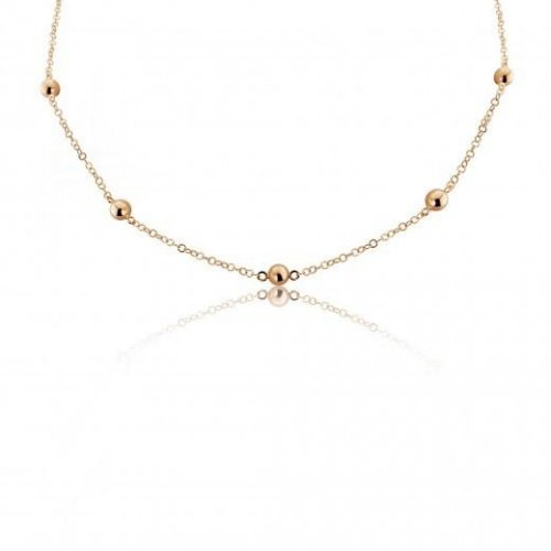 Mark Milton - 9ct Rose Gold Chain and Ball Necklace