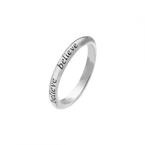 Virtue - Believe, Sterling Silver Ring, Size N