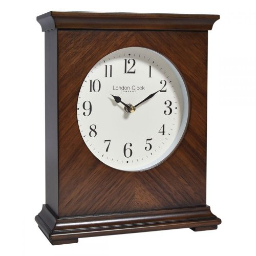 London Clock - Flat Top Wooden Mantel Clock