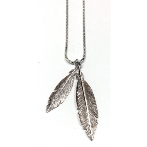 Virtue - Sterling Silver Feather Necklace