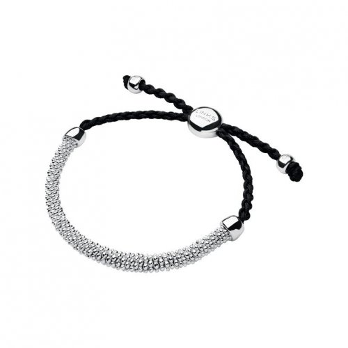 Links of London - Effervescence XS, Sterling Silver Grey Cord Bracelet