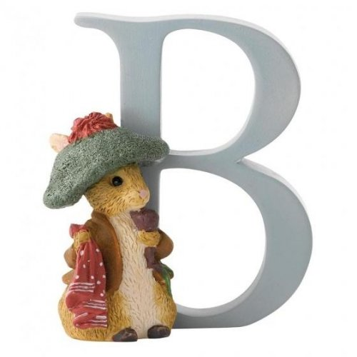 Enesco - Benjamin Bunny, Alphabet, Initial B Figurine