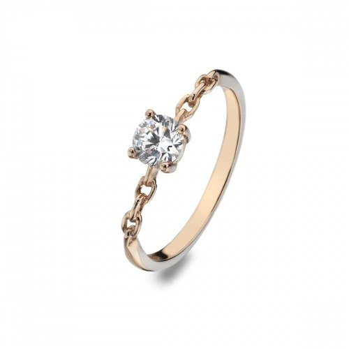 Virtue - Eternal, Cubic Zirconia Set, Rose Gold Plated Ring, Size P