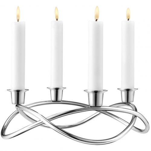 Georg Jensen - Stainless Steel Candle Holder