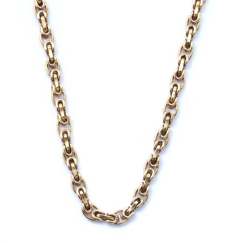 Byzantine Style Link Chain in 9ct. Gold