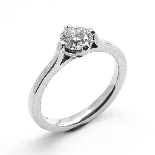 Solitaire Ring, Diamond Set in 18ct. white Gold