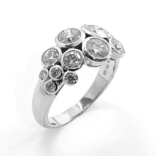 Fancy Cluster Ring, Diamond Set in 18ct. White Gold