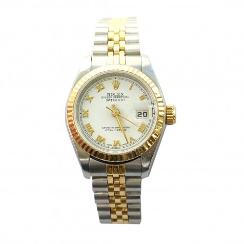 Rolex, 18ct Yellow Gold and Stainless Steel Watch, 1987