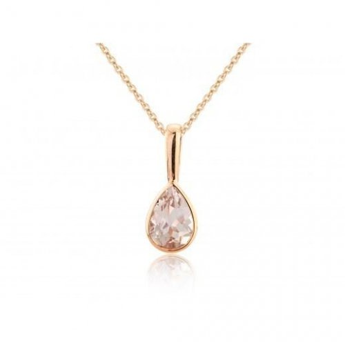Mark Milton - Morganite Set, 9ct Rose Gold Pear Pendant