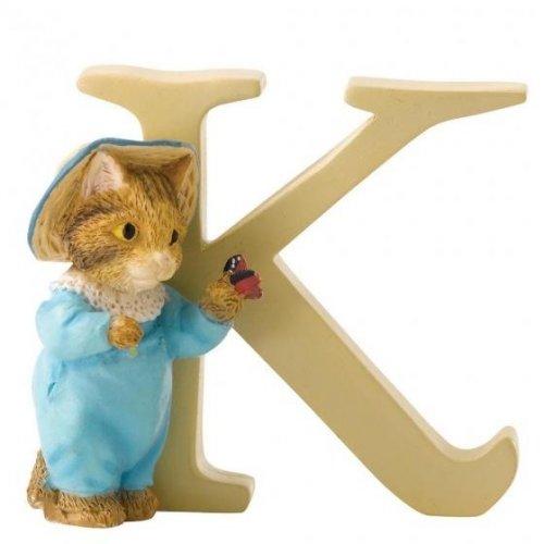 Enesco - Tom Kitten, Alphabet, Initial K Figurine
