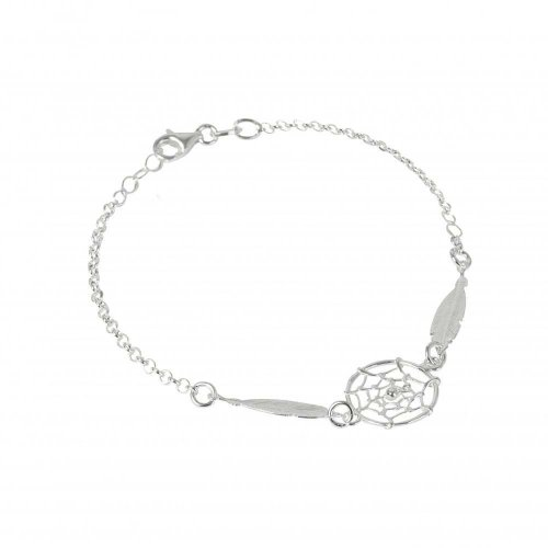 Virtue - Dreamcatcher , Sterling Silver Double Feather Bracelet