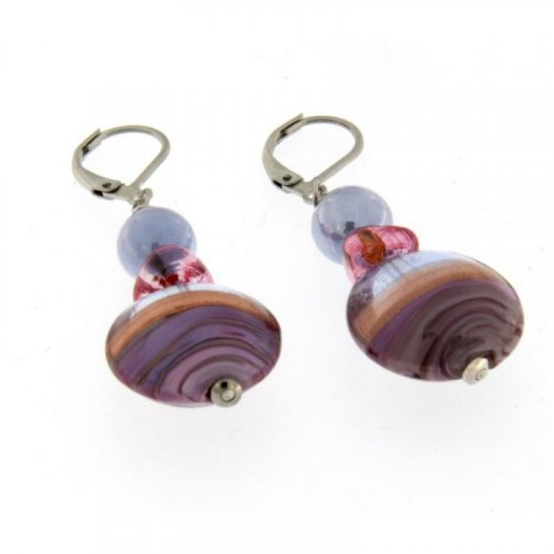 Antica Murrina - Niagara, Murano Glass Set, Drop Earrings