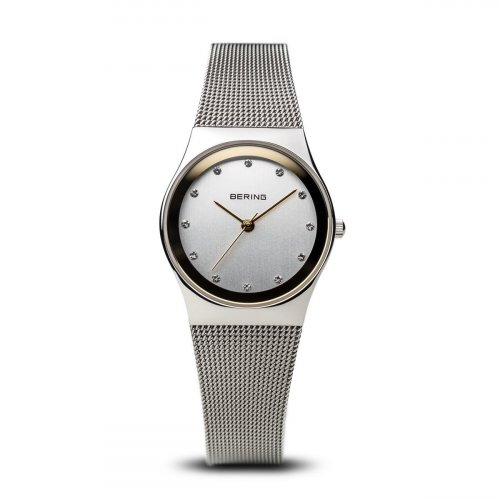 Bering - Women's Classic, Swarovski Crystal Set, Stainless Steel Milanese Strap Watch